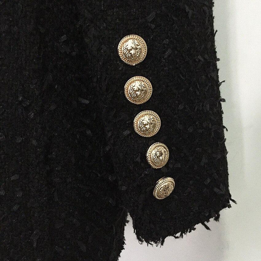 Hivers Double Noir Nouveau Automne Femmes Tête Costume 2019 Collier Châle Manteau À Boutonnage Vestes Élasticité Métal En Fonds Franges qAHHO0g