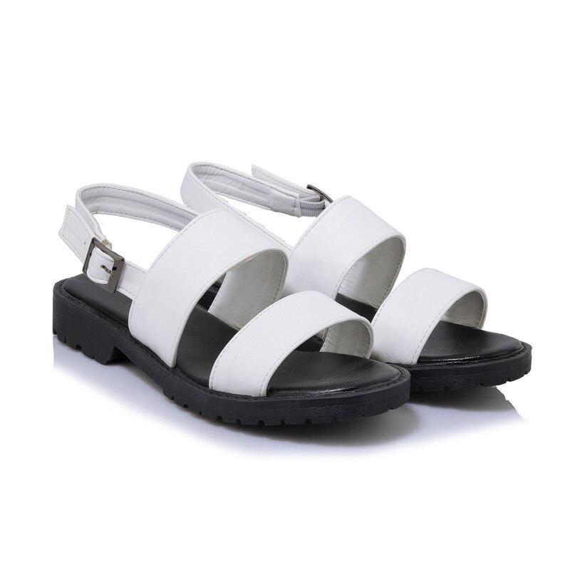 Nero Heels Soft Pu Low 34 Rosa Shoes Asumer Verde Size Big Solid Donna Bianco militare Gladiator Sandali Fashion Buckle estivi 43 Leather XOqggfTnw