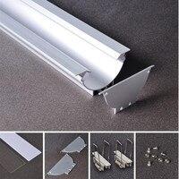 10pcs 2m/pcs led strip profile for led strips led profile aluminum housing total 20 meters Model 49
