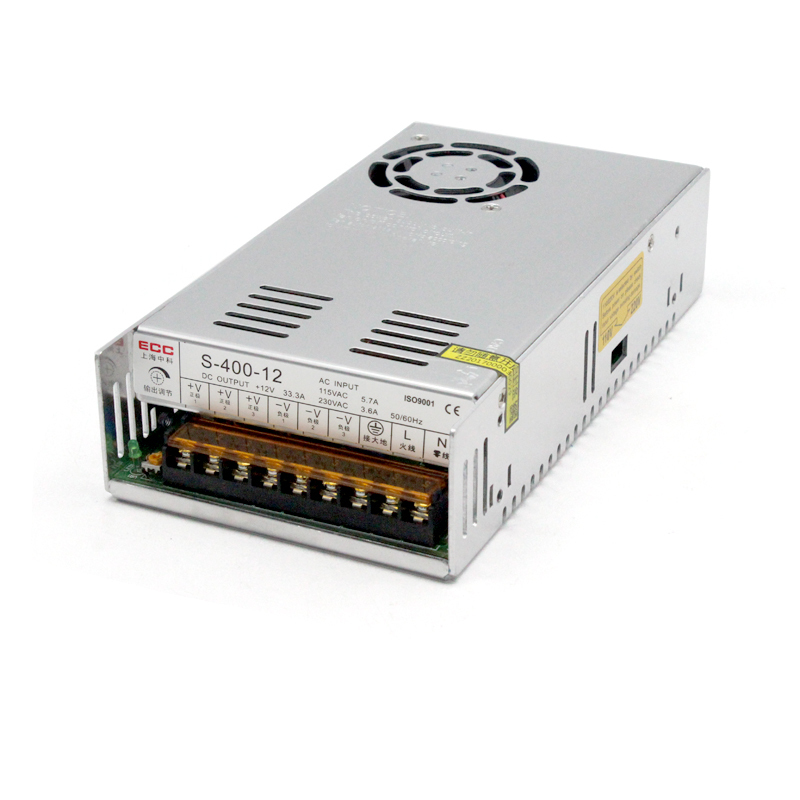 Switching Mode Power Supply 400W 33A Monitor Electric Fan Industrial Control AC220V Change DC 220v to 12v 400w 33a switching power supply dc power adapter monitor power supply