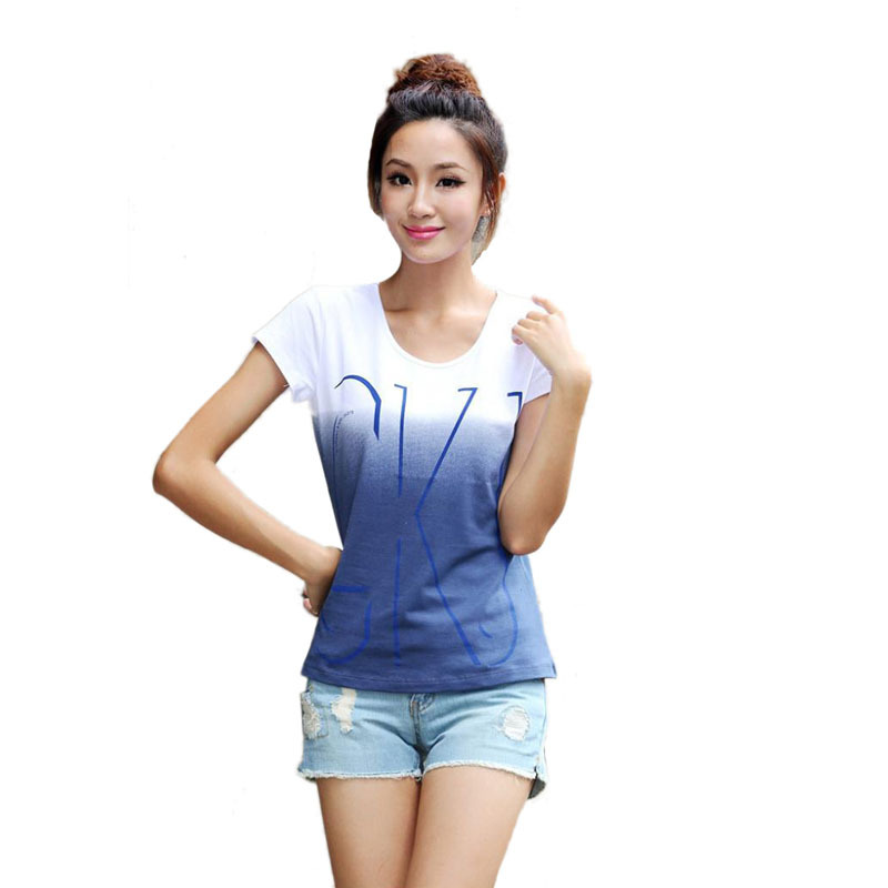 2017 brand new cotton women short sleeve t shirts o neck for Short t shirts ladies