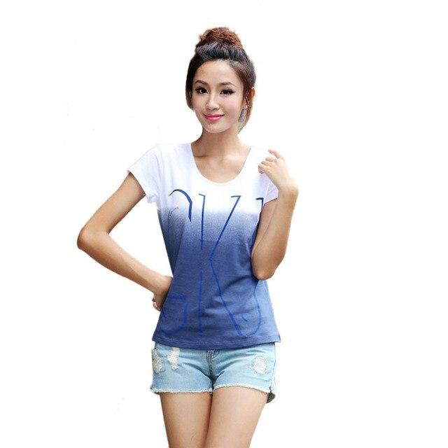 2017 Фирменная Новинка Хлопок Для женщин короткий рукав футболки с круглым вырезом Повседневная Свободная футболка с принтом женские летние топы футболки