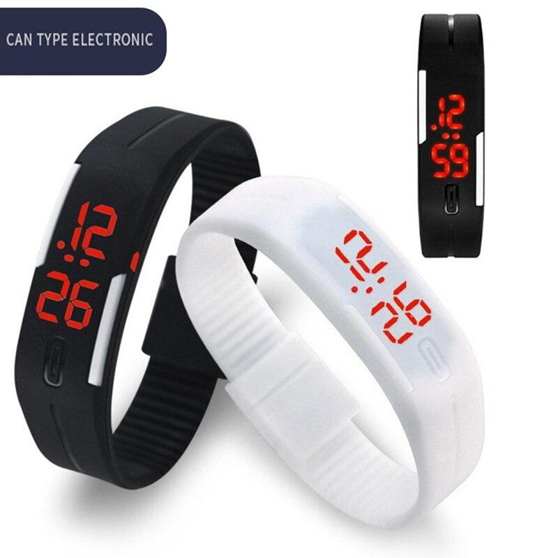 LED Digital Watch Electronic Wrist Watches Men Women Kids Sport Watch Creative Calendar Colorful Rubber Smart Montre Femme