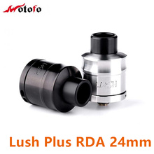Original Wotofo Lush Plus RDA 24mm Rebuildable Atomizer with Dual posts 4 wire holes For E Cigarette 510 thread Box Vape