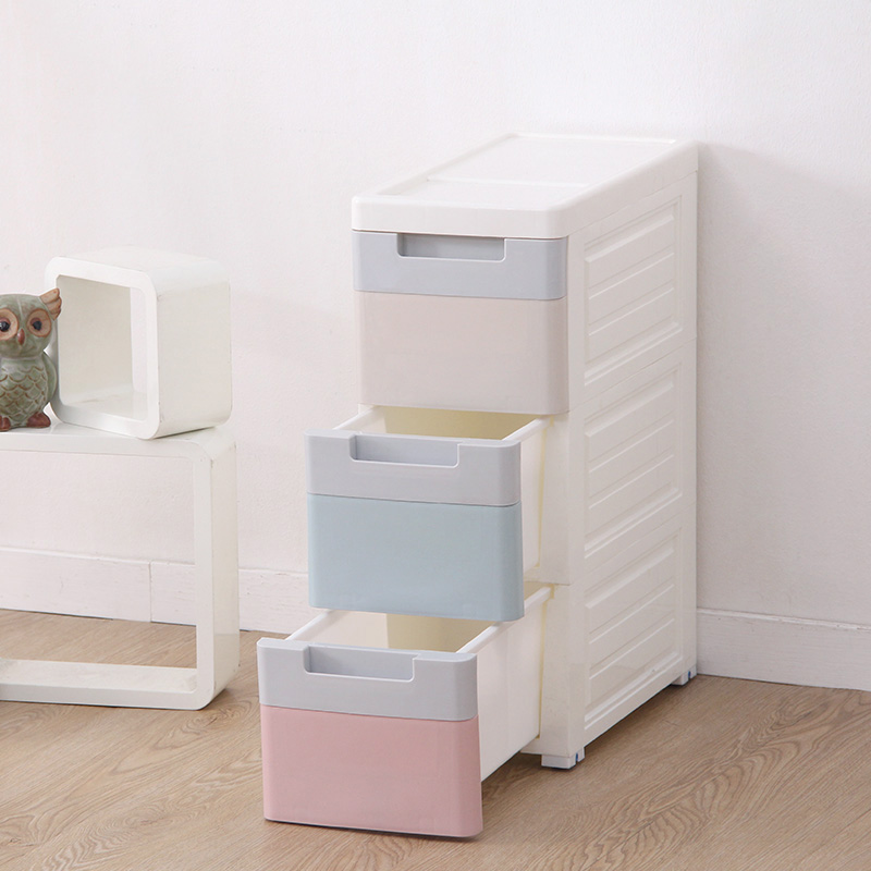 New Small Plastic Storage Box Storage Drawer Organizer,Makeup Toy Cabinets  Of Three Layer