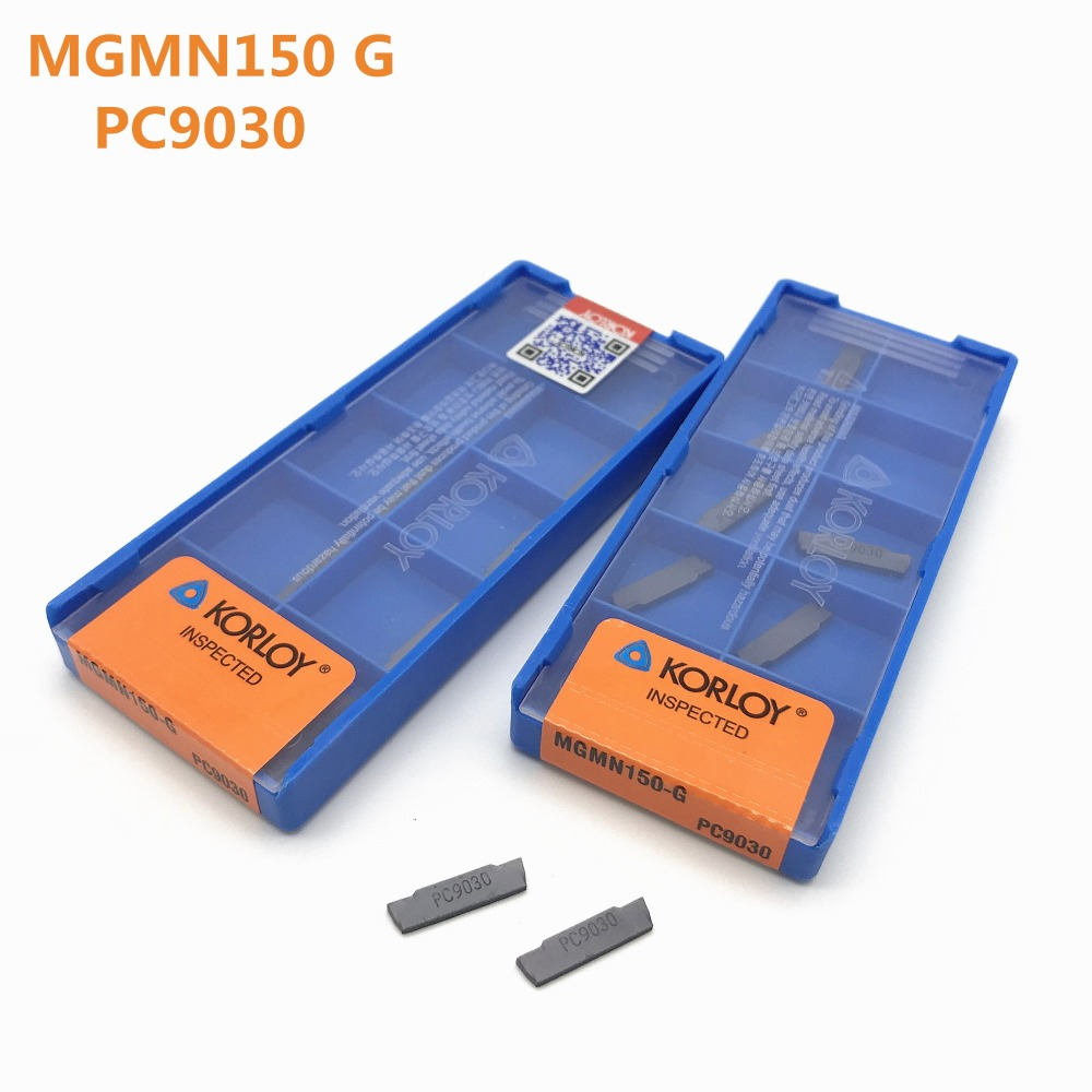 20Pcs Lathe tool MGMN150 G PC9030 1.5mm high precision grooving blade carbide blade metal turning tool MGMN150 CNC parts