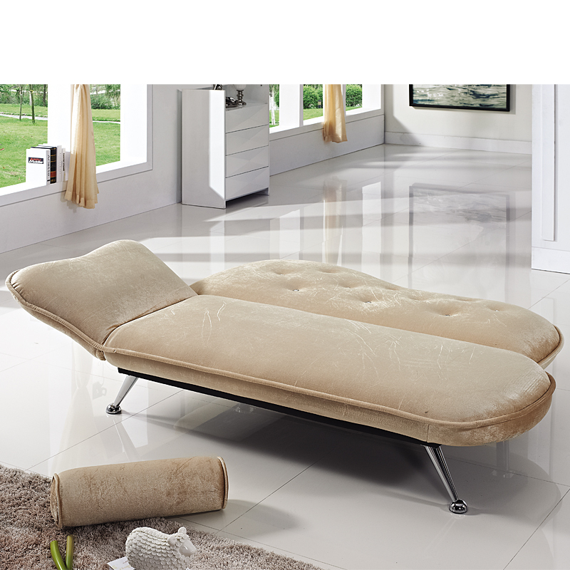 Modern Minimalist Fashion Fabric Folding Sofa Bed Small Apartment IKEA Chaise Longue 1 M 8 Shipping In Hotel Beds From Furniture On Aliexpress
