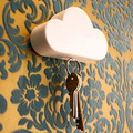 Creative Home Storage Holder White Cloud Shape Magnetic Magnets Key Holder #RJ16