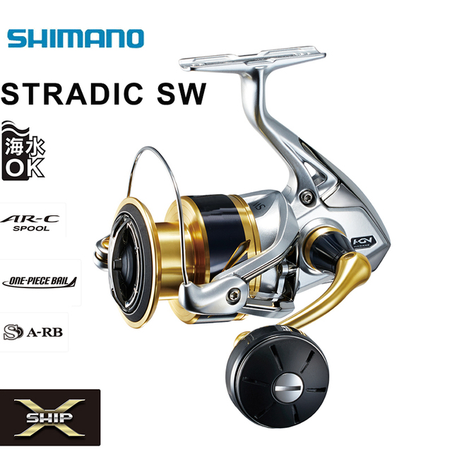 SHIMANO Original STRADIC SW 4000HG 4000XG 5000PG 5000XG 6+1BB 6.2:1 11kg Drag Fishing Reel Saltwater Spinning Fishing Reel
