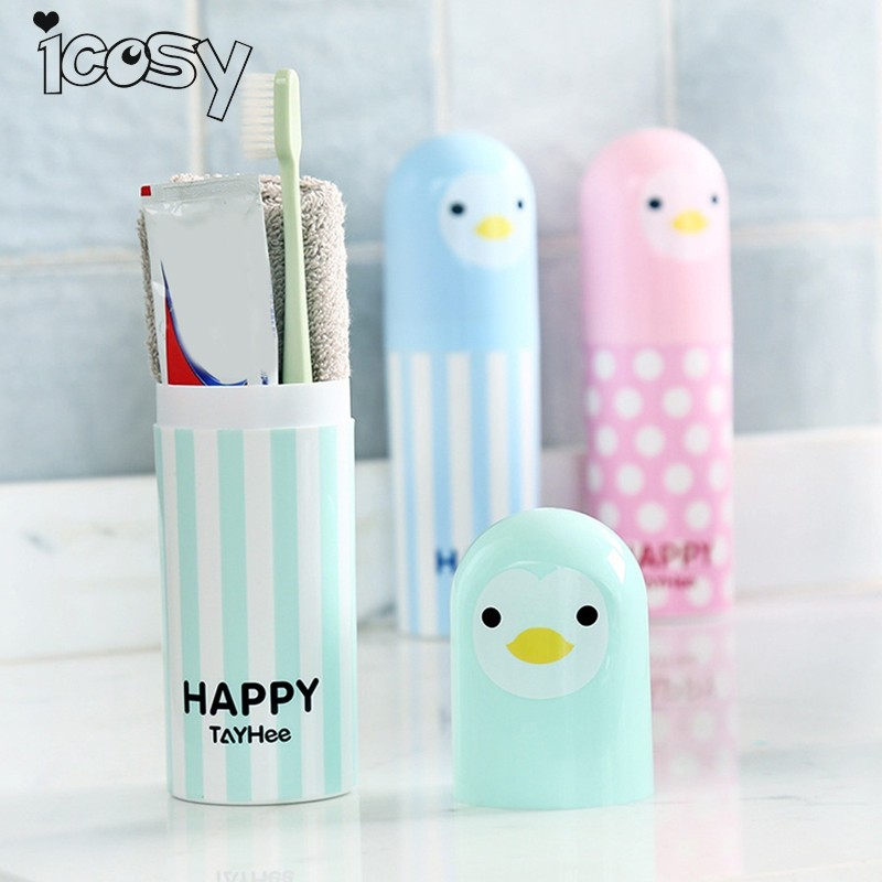 Icosy Towel Toothbrush Holder Case Outdoor Travel Camping Toothpaste Multi Cap Storage Case Household Bathroom Accessories 18D15