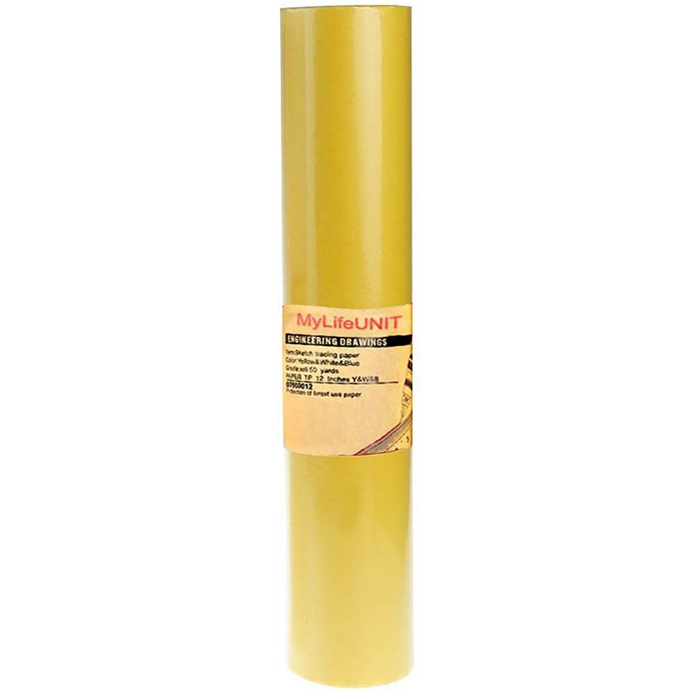 купить Sketch Tracing Paper, Tracing Paper Roll for Sewing, 12* 50 Yards (Yellow) недорого