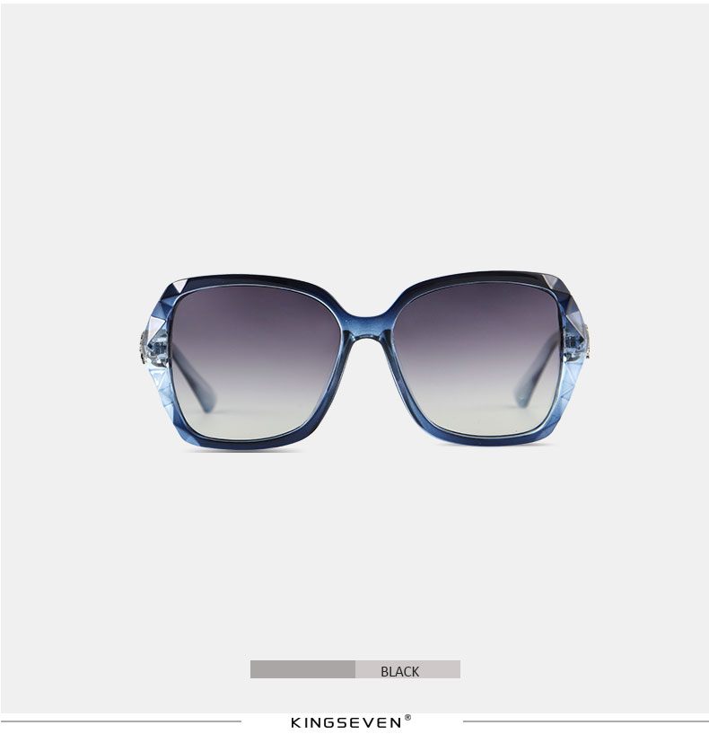 KINGSEVEN Sunglasses Women Gradient Polarized Diamond Frame Sun Glasses For Driving Luxury Lady Shades Eyewear Accessories 7538 9