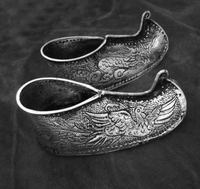 hot sell new free shipping Miao silver traditional dragon Alice shoes head evil town house