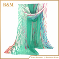 New Arrival Laconic and Mix-Matched Chiffon Stripe Scarf For Female