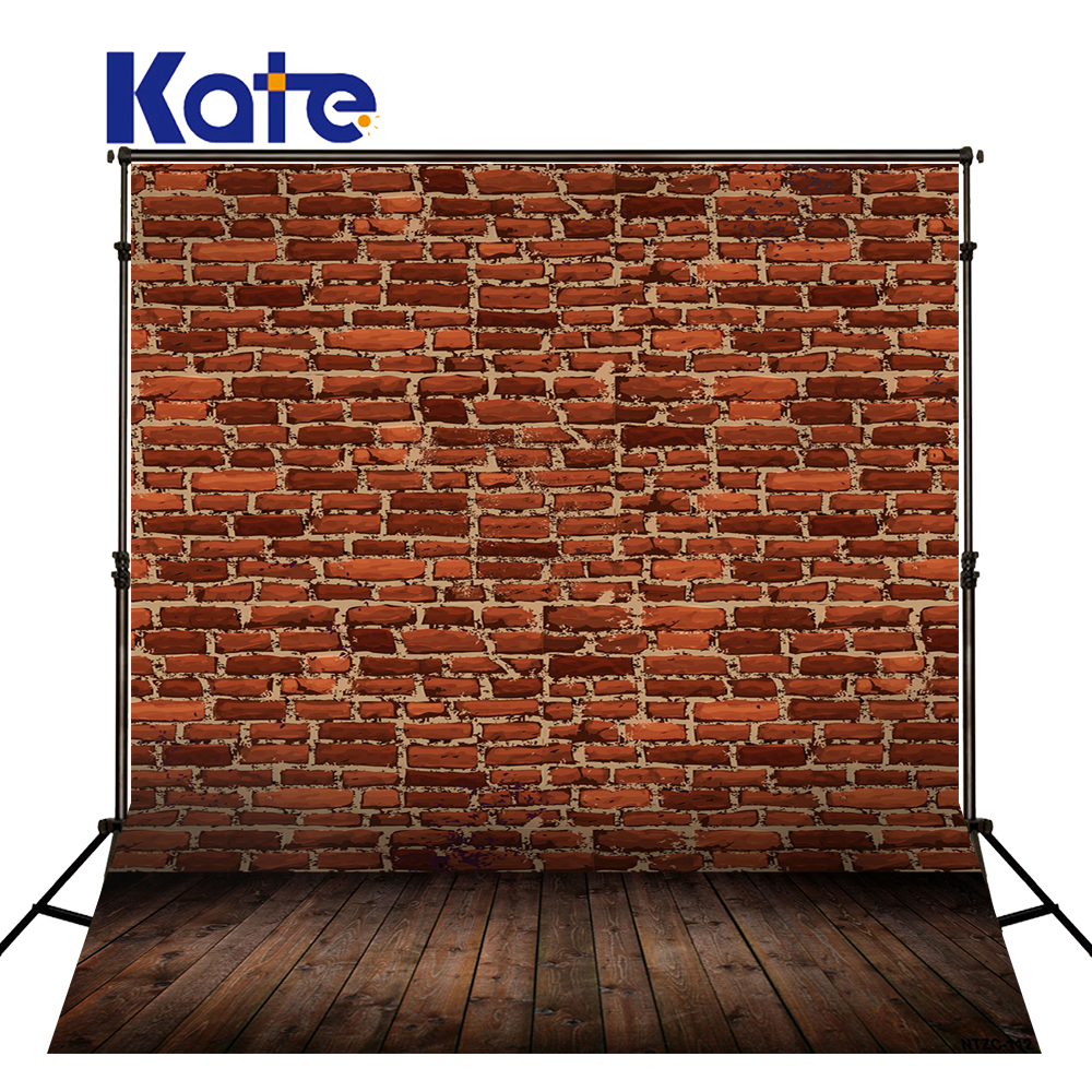 Kate 5X7FT Retro Brick Wall  Backgrounds For Photo Studio Wood Floor Children Photography Background Microfiber Photo Background