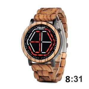 Image 3 - BOBO BIRD LED Display Watch Men relogio masculino Night Vision Digital Mens Watches reloj hombre V P13