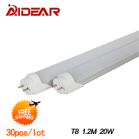 T8 Led Tube 1200mm 20w 1800lm T8 Fluorescent Tube Free Shipping