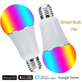 E27 E26 FÜHRTE Wifi Glühbirne 110V 120V 7W Smart Home Lampe Dimmbar Stimme Energiesparende lampe Kompatibel Alexa Google APP