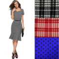 Ladies Short Sleeve Vintage Plaid Mermaid Dress S-3XL Casual Party Bodycon Dresses With Belt 713