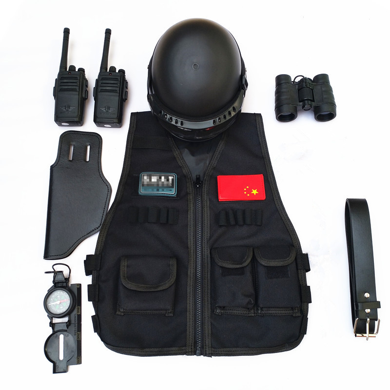 no handcuff police cosplay funny game cosplay military clothing vest children s party supplies halloween cosplay