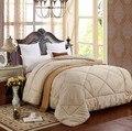 Grossa colcha de pêlo de camelo inverno quente Costura Consolador Queen/King Size edredom inverno patchwork