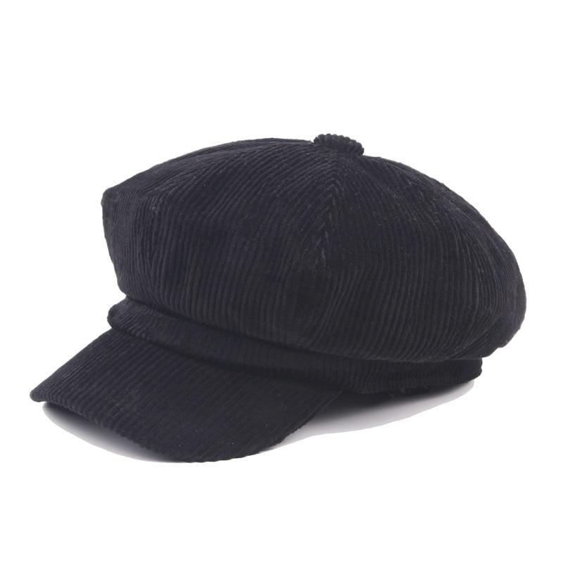 COKK Newsboy Kap Bere Kadın Sonbahar Kış Şapka Kadın Erkek - Elbise aksesuarları - Fotoğraf 2