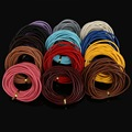 3mm 5Meter Round Genuine Leather Cord/Wire/Fashion Jewelry DIY necklace Bracelet Cords ,13 Color to Pick
