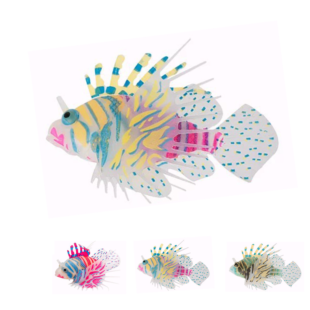 Juwel aqua clean aquarium fish tank gravel - Aqua Fish Tank Decor Simulation Software Lionfish Ornament Dark Glowing Artistic China Mainland