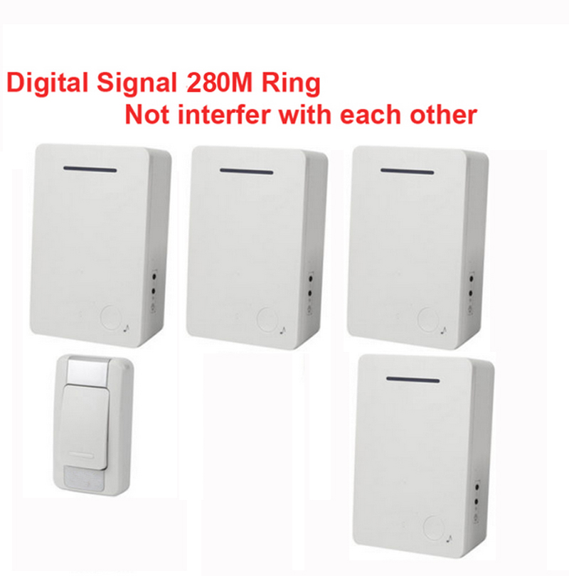 D28 1-4 wireless door bell 4 receiver bell by AA battery doorbell Waterproof 280 Meter door chime door ring digital signal ring бра sonex iris 1230 a