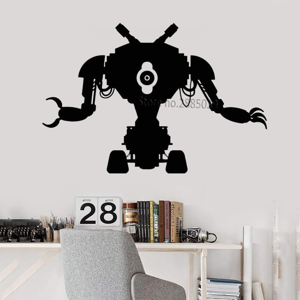 Classic Robot Toy Wall Decal Machine Engineering