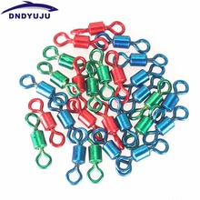 20x Rolling Swivel Fishing hook Fishing Swivel Rolling Connector Fishing Hook Copper Stainless steel Fishing Tackle