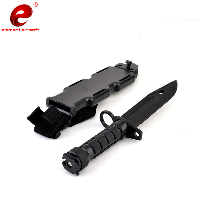 US $10 89 15% OFF|M9 Tactical Training Dagger Cosplay Plastics Knife  Hunting Rubber Training Knifes Modeling Bayonet with Plastic Holster CS  CY337-in
