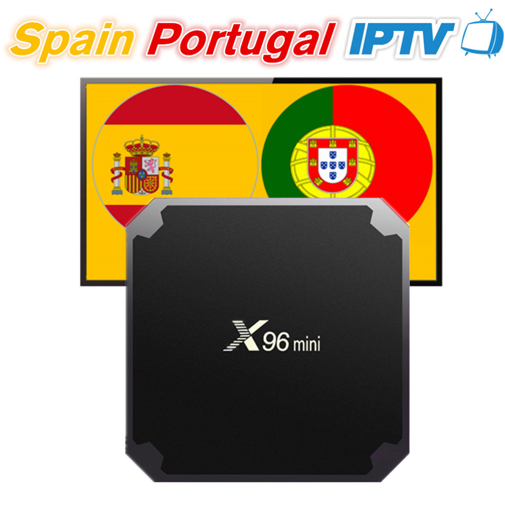 X96 mini Android 7 1 Smart TV Box with 12Month Spain Portugal IPTV Subscription 200 Spanish