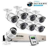 ZOSI 1080P 8CH Network PoE Video Surveillance System 8pcs 2MP Outdoor Indoor Bullet IP Cameras CCTV Security NVR Kit 2TB HDD