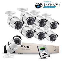 Zosi 1080P 8CH Netwerk Poe Video Surveillance Systeem 8 Pcs 2MP Outdoor Indoor Bullet Ip Camera Cctv Security Nvr kit 2 Tb Hdd