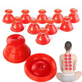 10 Piece Red Cupping therapy Silicone Vacuum Cup Anti Cellulite Massager Traditional Chinese Medical Product As Yoga