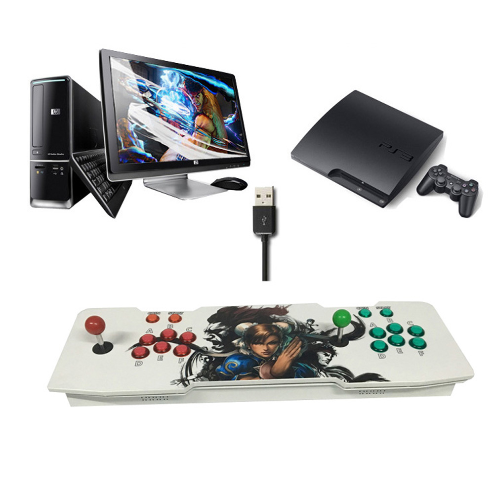 TV jamma arcade game console with Push button joystick HDMI and VGA with Pandora box 4s 680 in 1 DHL free shipping sanwa button and joystick use in video game console with multi games 520 in 1