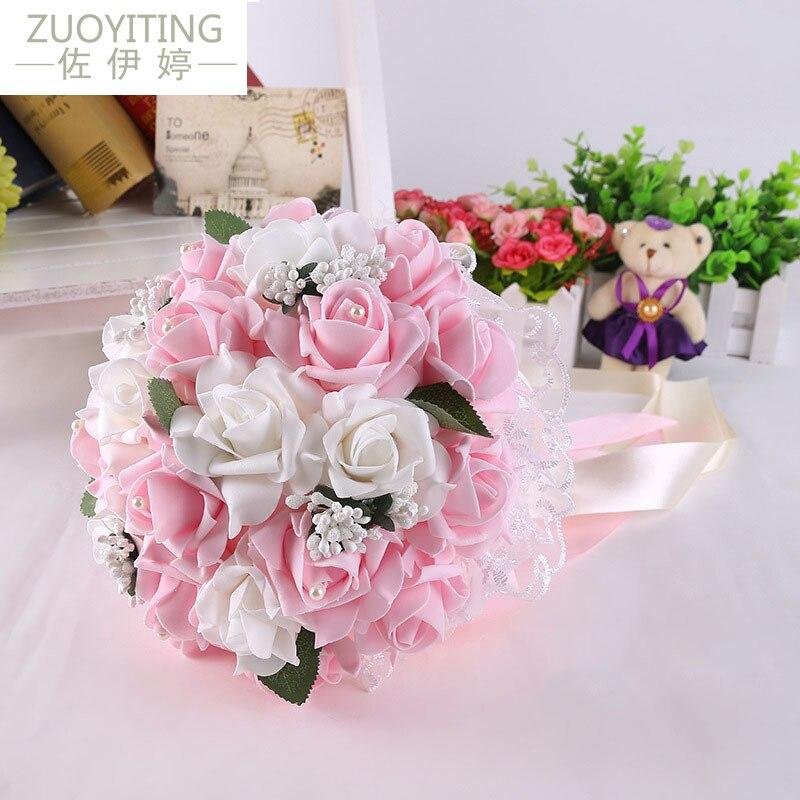 Zuoyiting Hochzeit Bouquet Braut Mit Blume Pe Rose Brautjungfer