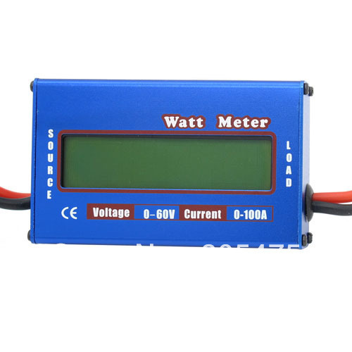Digital 60V 100A Battery Balance LCD Voltage Power Analyzer Watt Meter #2975