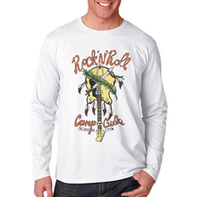 Rock Roll T Shirt Men Long Sleeve 100 Cotton Mens Hipster Tops 3D Printed Guitar Cartoon Male Fashion Shirts Funny Tee