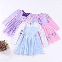 christmas Baby Girl Cotton Princess Cinderella Sofia Rapunzel dress Vestidos Infantis Kids clothe Children Wedding Party Clothes