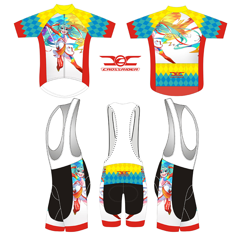 2018 short Sleeve Hatsune Miku Bicycle Cycle Clothing Mens Cycling Jersey set short Sleeve Outdoor Sports Quick Dry MTB jersey 5 topeak outdoor sports cycling photochromic sun glasses bicycle sunglasses mtb nxt lenses glasses eyewear goggles 3 colors