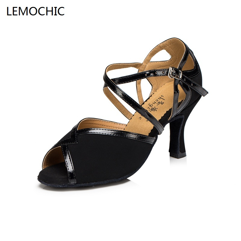 LEMOCHIC new style rumba latin tango jazz belly tap arena classical ballroom shoes high quality for dancing ladies girls