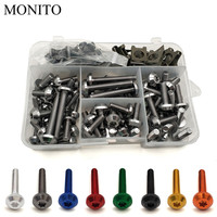 Motorcycle Fairing Bolts Nuts Kit Body Fastener Clips Screws For DUCATI Monster S2R 800 821 797 695 696 796 400 M400 Accessories