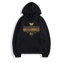 Muhammad ali hoodies moleton masculino hoodies de algodão dos homens moletom moletom primavera roupas de pista
