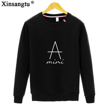 Фотография Xinsangtu Casual Hoodies 2017 Women Fashion Letter Printed Sweatshirt Solid Color Pullover Tops Hoodie For Woman