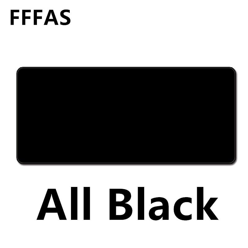 FFFAS Grand Tous Les Noir Tapis de Souris Noir Entier Bureau Table Tapis De Souris bureau Coussin Super Grand 60 cm 70 cm 80 cm 90 cm Grand Épais 2mm XL