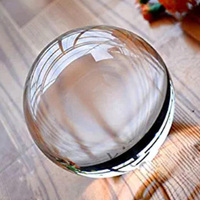 120mm K9 Clear Magic Crystal Ball Glass Globe for Photography Accessory