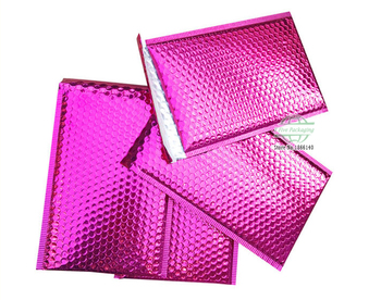 Pink Mailing Bags Aluminum Bubble Shipping Bag Padded Envelopes Bubble Mailers 100pcs/lot Free shipping