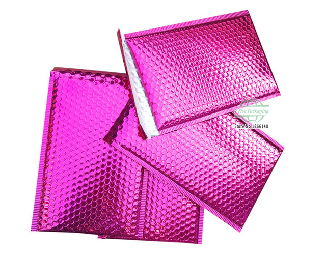 566a81adf8e Pink Mailing Bags Aluminum Bubble Shipping Bag Padded Envelopes Bubble  Mailers 100pcs lot Free shipping